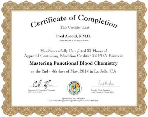 Dr. Arnold at Conference on Mastering Functional Blood Chemistry