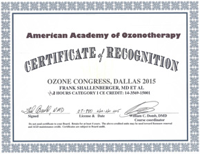 AAO Ozone Congress, Dallas 2015