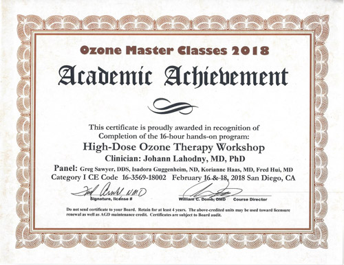Dr. Lahodny Certificate